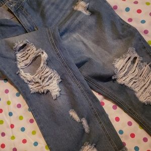 Nwot Rue 21 high rise ankle distressed jeans